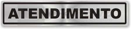 Estas placas são utilizadas na identificação de ambientes, organização e setores.            Material : Etiquetas em vinil adesivo / Plástico Rígido / Alumínio composto    Medidas : 25 x 5 / 30 x 8 Cm